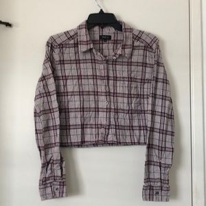 Cropped Long Sleeve Flannel